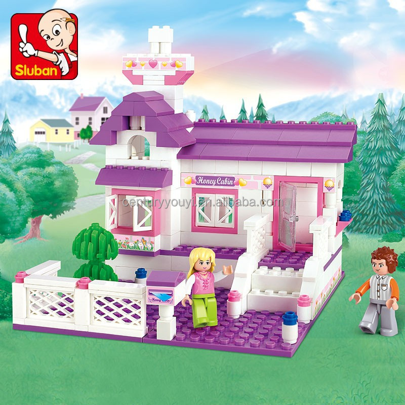 Brilliant Sluban ABS plastic building blocks of girls dream china factory toys with mini figures
