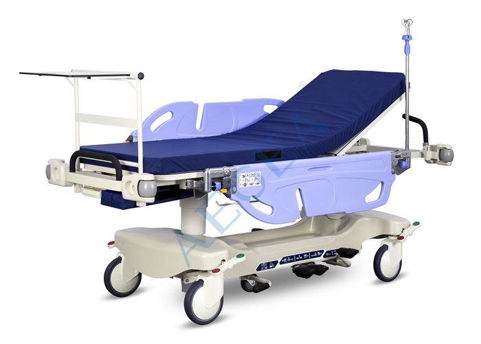 Ambulance room emergency patient transport Power hydraulic pump hospital adjustable stretcher trolley price