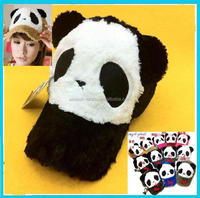 OEM long plush 3D Panda design sport baseball cap Custom