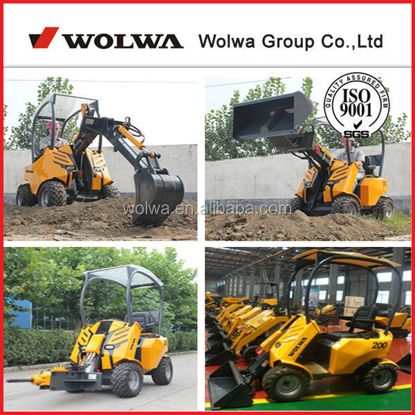 1.5t skid steer wheeled mini loader attach rollers mower