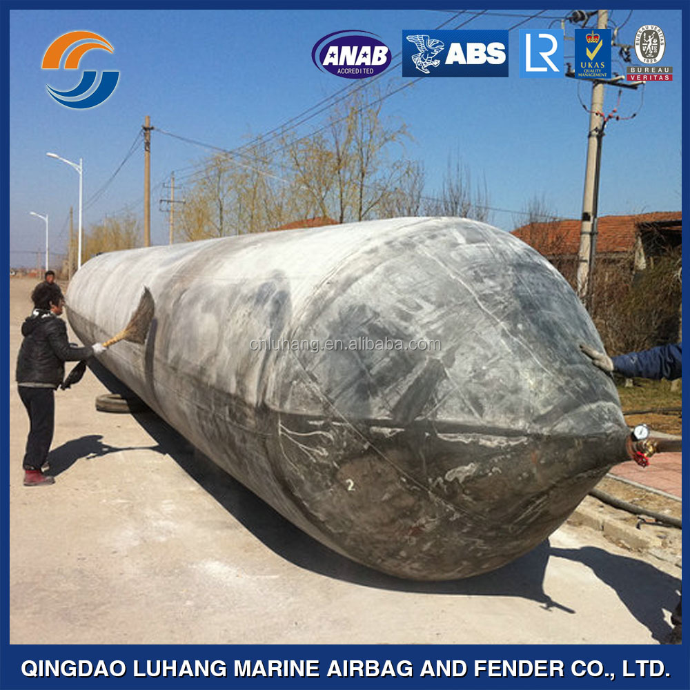 boat salvage lifting launching rubber airbags