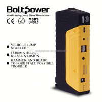 Emergency engine jump starter suitable for 12V auto boat vehicle battery boost 12v starter 13800mah