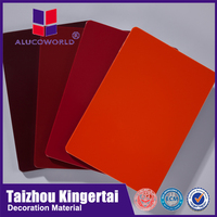 Alucoworld India popular wall cladding red family 3mm acp panel