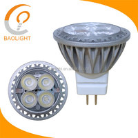 mr11 led bulb 3W mr11 gu4 12vac dc led 240lm 4*1W TUV GS CE RoHS