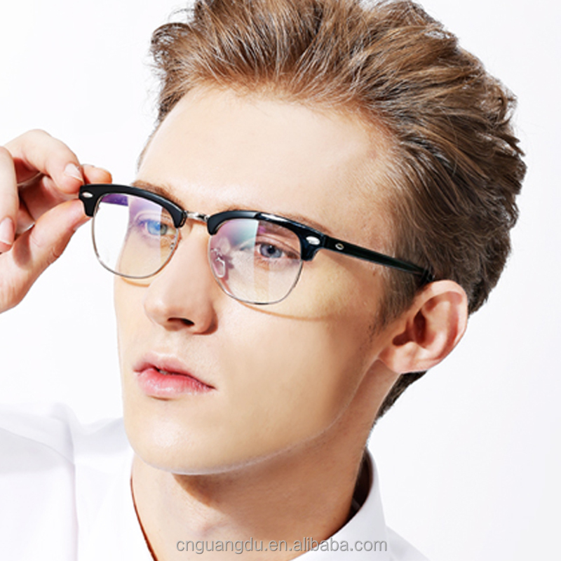 Optical Frames Fashion Style Half Metal Glasses China Wholesale High Quality New Model Eyewear Frame Glasses