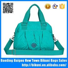 Trendy nylon tote bag long strap shoulder messenger bag for women
