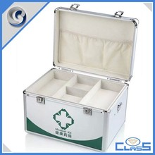 china personalized empty aluminum first aid tool case first aid box