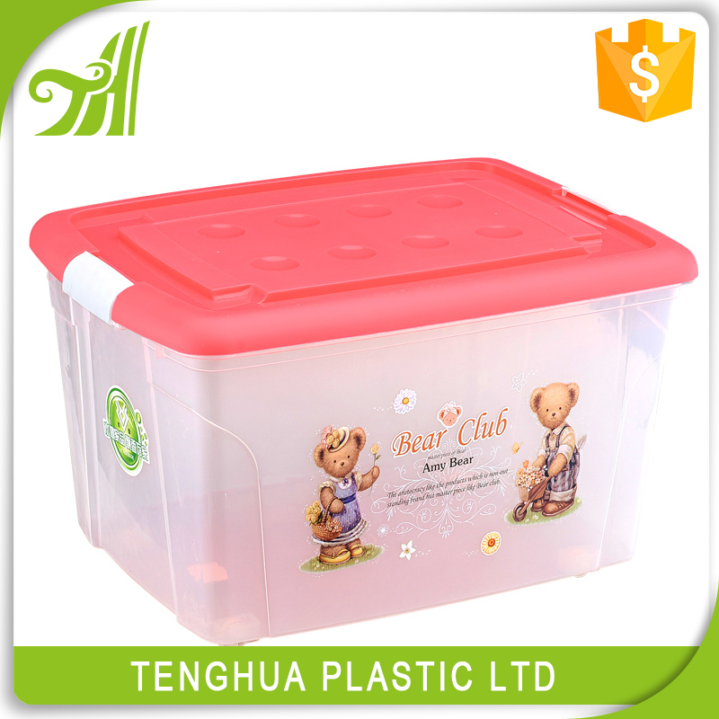 Hot Sale Household Plastic Clothing Storage Box Bin/Containing Box With lid