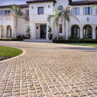 Best quality yellow granite paving cobble stone