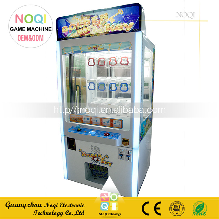 NQC-E03 coin operated arcade claw machine for sale Color LED toy crane price vending machine key master for shopping mall