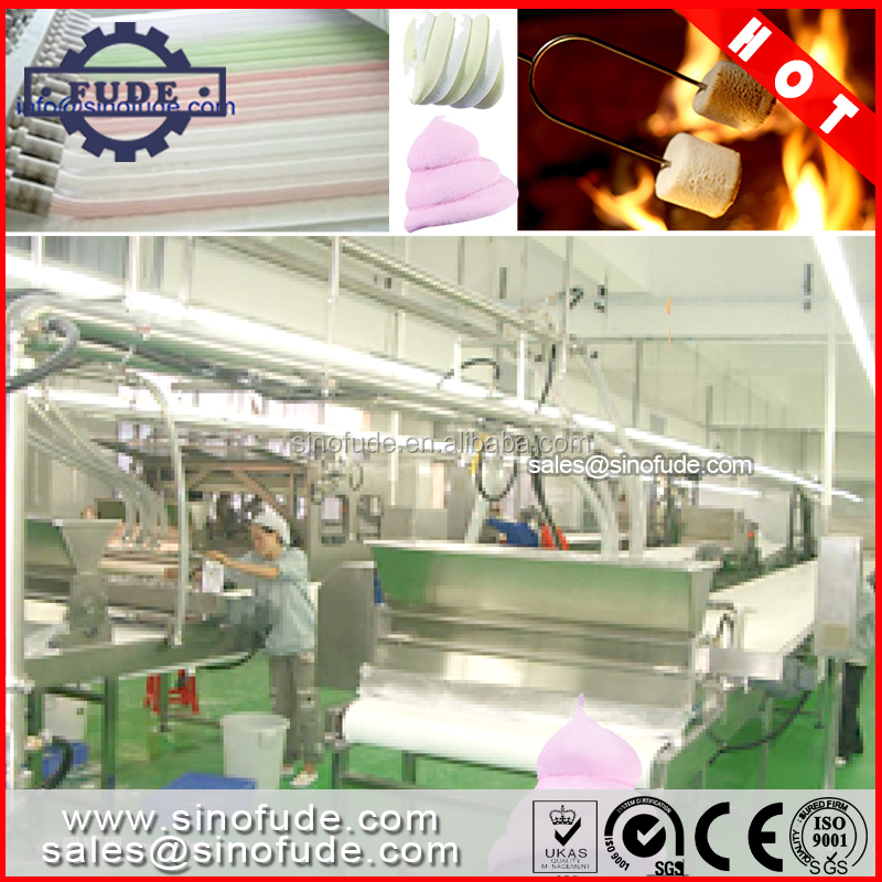 Automatic marshmallow candy production line made by shanghai factory