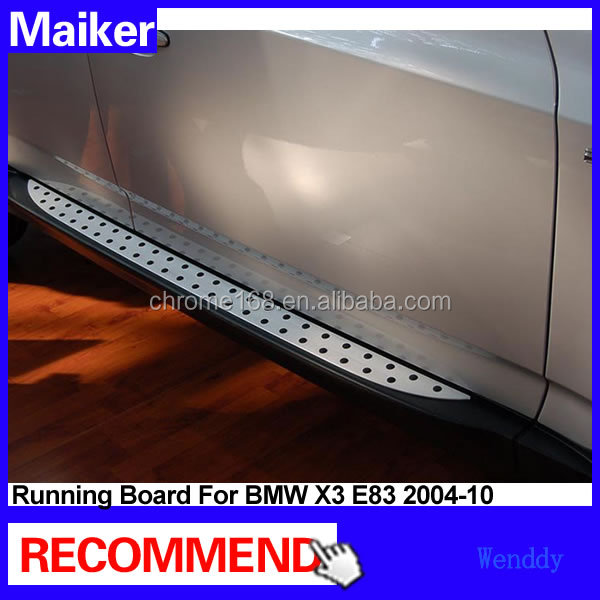 Aluminium alloy side step Running boards for BMW X3 E83 2004-10 car Side step bar auto running board from Maiker