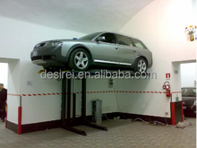 Space-saving Single Hydraulic Cylinder Chain-driven Single Post Parking Car lift