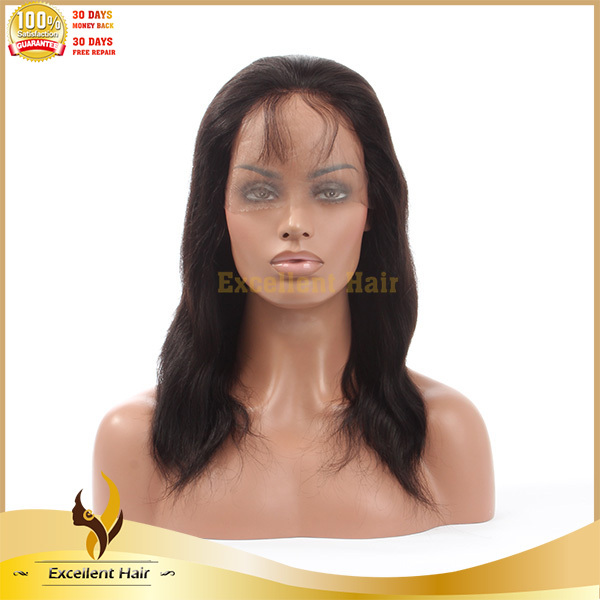 Two tone #1b T red silky straight 100% human virgin brazilian hair full lace wig