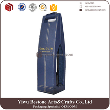 2017 Unique Style Luxury Portable Custom Leather Wine Carrier Wine Box