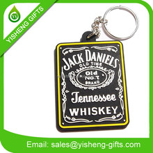 custom old time 3D PVC rubber key chain keychain manufacture