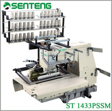 1433 PSSM 33 needle chain stitch shirring flat bed multi needle smocking industrial sewing machine