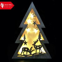led 3d Wood Light Suppliers with christmas tree,led 3d night light of christmas decor,christmas ornament for wood cut