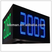 solar powered outdoor clock gas station price led signs for sale LED Clock Display 7 Segment