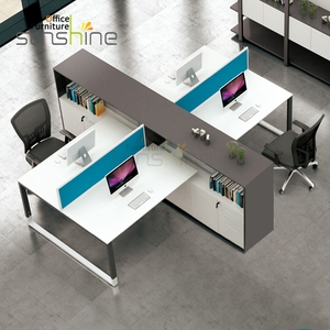 Aluminum Frame Modular Office Partition 4 People Office Desk