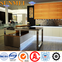 OEM 2017 Modern Design Food-grade 304 Stainless Steel Kitchen Cabinets Price