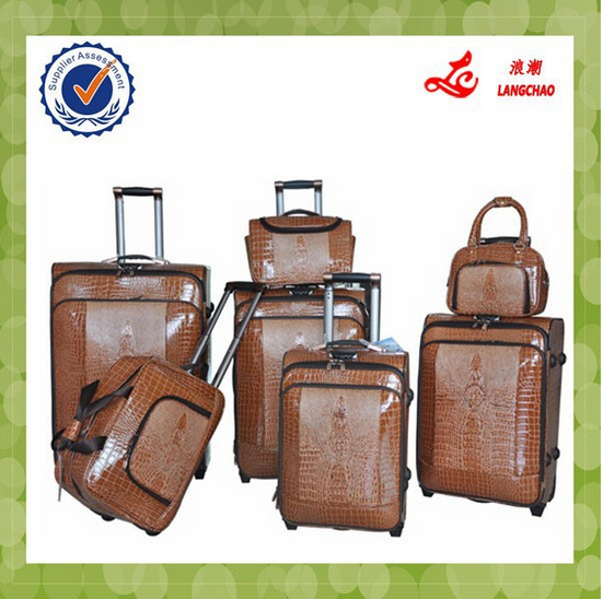 China 2016 Supplier sets unique Travel luggage trolley luggage
