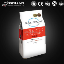 High quality OEM foil lined side gusset coffee packaging, 500g coffee packaging bag