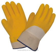 Safety Cuff Cotton Jersey Lined Latex Rubber Glove china supplier