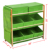 3 Tier Wooden Pine Bedroom Storage Shelf 9 Canvas Drawers Unit