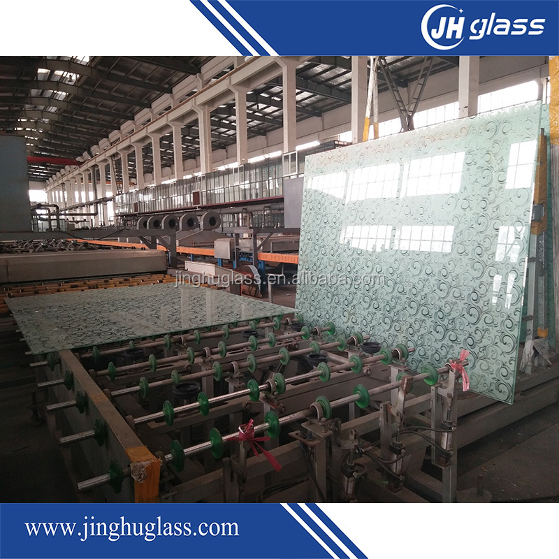 Colored Silk Screen Tempered Glass for Building Decoration