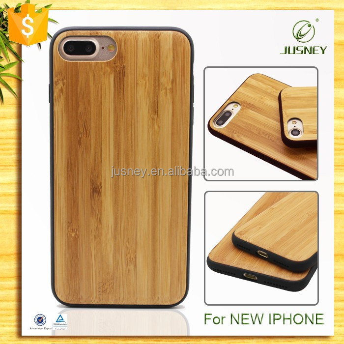 Hot selling Custom engrave logo design Wooden Cell Phone Cover For New Iphone 7