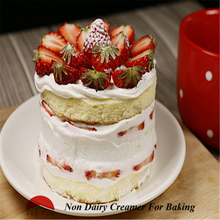 Non dairy whipped cream for cake decoration and food topping