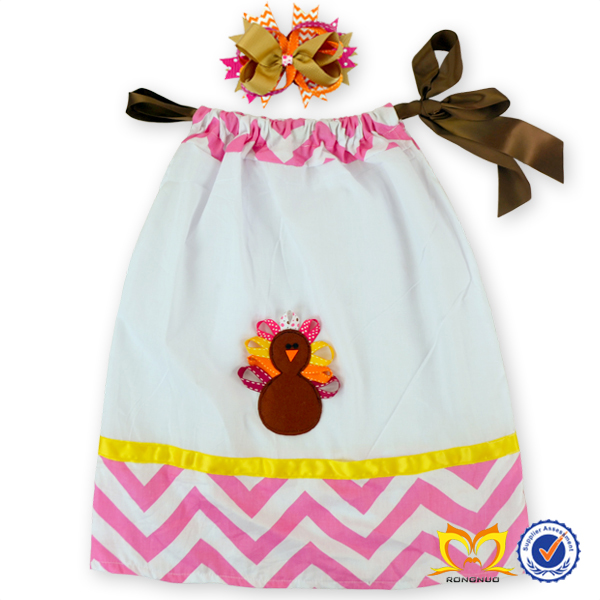 Latest Designs dress for young girls,cute fashion girls puffy dresses with bow clip,girls pillowcase dress with print turkey
