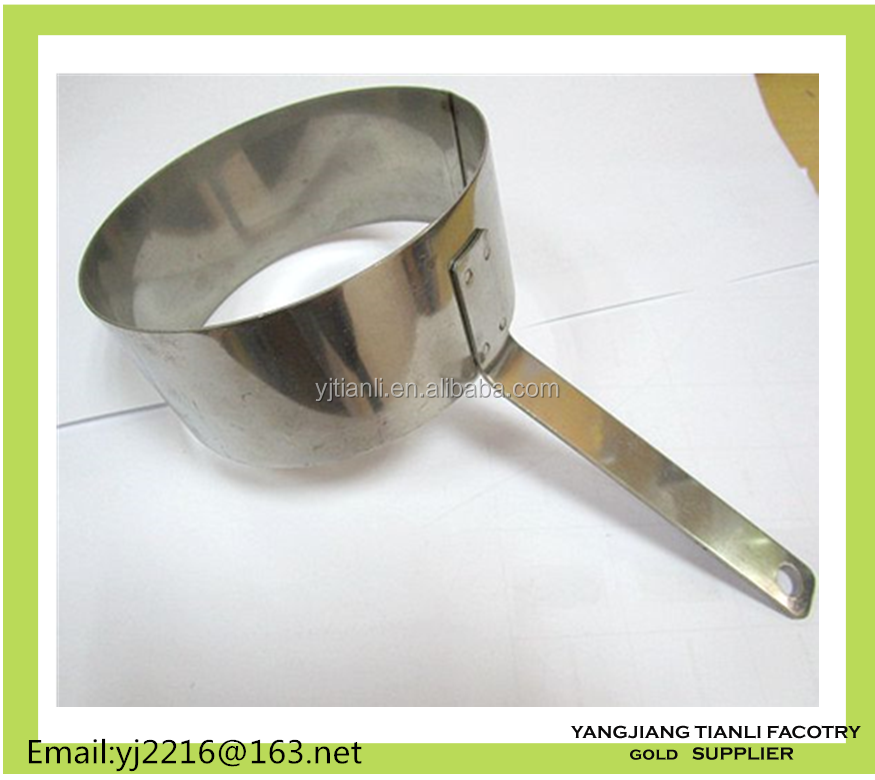 Stainless steel long handle Mousse Ring Cake Mold egg baking ring