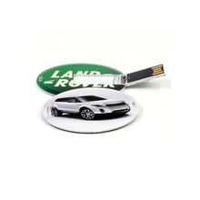 Mini Plastic Round Card Flash Drive Customized Full Logo Bulk 1gb USB Drives