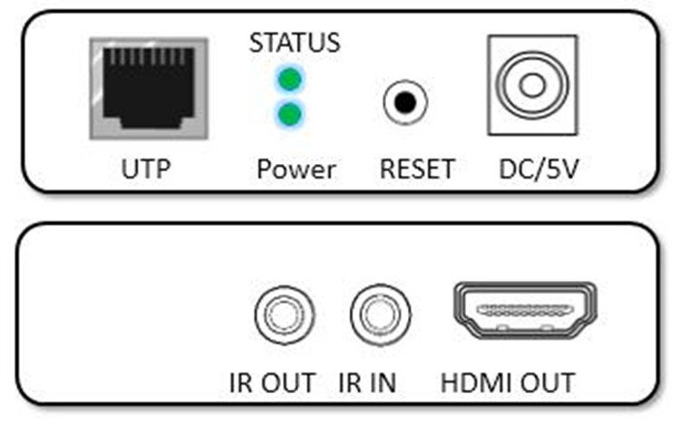 HT205P  1080P  IR and Local loop out HDMI Extender 60m