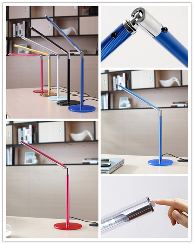 hot sales dimmer led table lamp with usb charging port led desk lamp nail tool table lamp