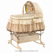 Co-sleeping height adjusted luxury baby bassinet with electric mobile