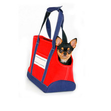 Denim Fabric Dog Outdoor Shoulder Bag Travel Carry Pet Bag