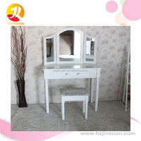 Modern wood tables, vanity table with lighted mirror , classical dressing table