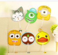 Wholesale Stock Small Order Lovely Cartoon Hand Fan