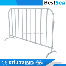 Pedestrian fence barricade steel, portable traffic crowd control barrier