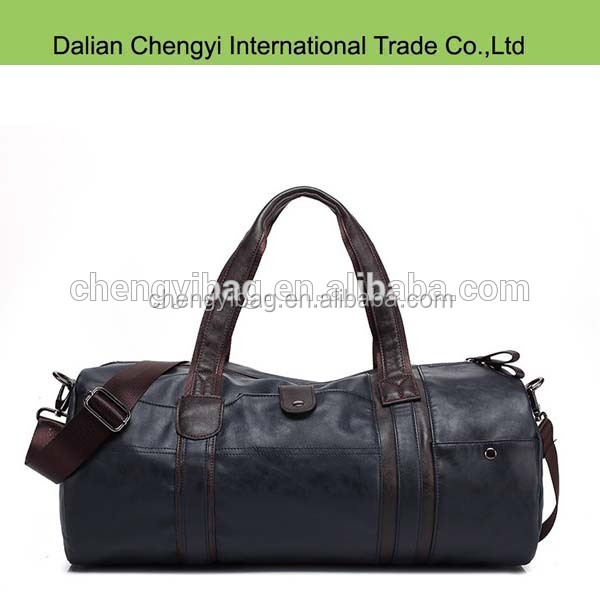 Manufacture Qualified men outdoor sport luggage pu travel duffel bag