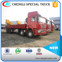 DONGFENG 8*4 280hp 25000kg Cargo Delivery Truck with 10 tons Crane
