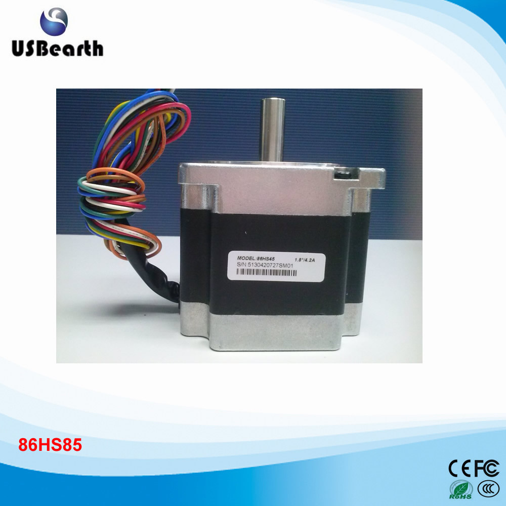 New 2-phase hybrid step motor 86HS45 / 8 motor leads /Current /phase 6A /Holding Torque 4.5N size NEMA 34
