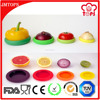 BPA Free Set of 4 Pieces Reusable Silicone Food Wrap; Colorful Custom Silicone Food Wrap for Fruits & Cans