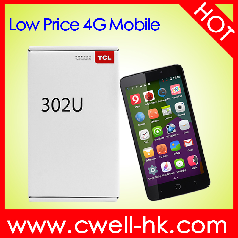 TCL 302U 5.0 inch Quad core 1GB RAM/8GB ROM 4G LTE Low price china android handphone