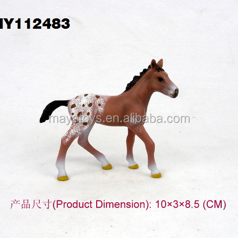 Small toy plastic horse plastic animal figurines horse animal toys horse for home decoration 10*3*8.5 cm