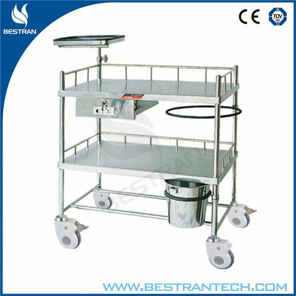 China BT-SCT001 Hospital stainless steel dressing and medicine cart, mobile medical cart, drug dispensing trolley
