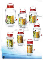 high qulity clear glass jar with tap.wine /juice jar with tap.